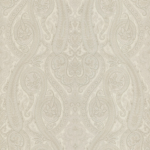 Forsythe Cream Paisley Wallpaper