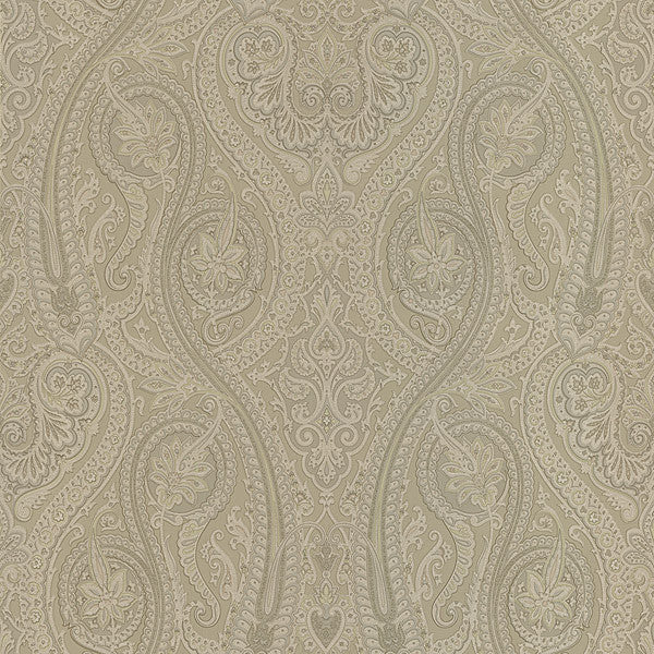 Forsythe Taupe Paisley Wallpaper