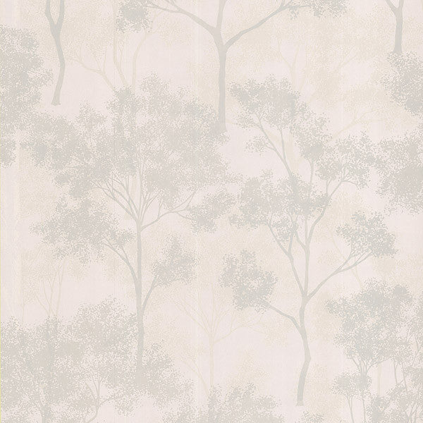 Fauna Cream Trees Wallpaper