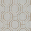 Octagon Grey Modern Ironwork Wallpaper