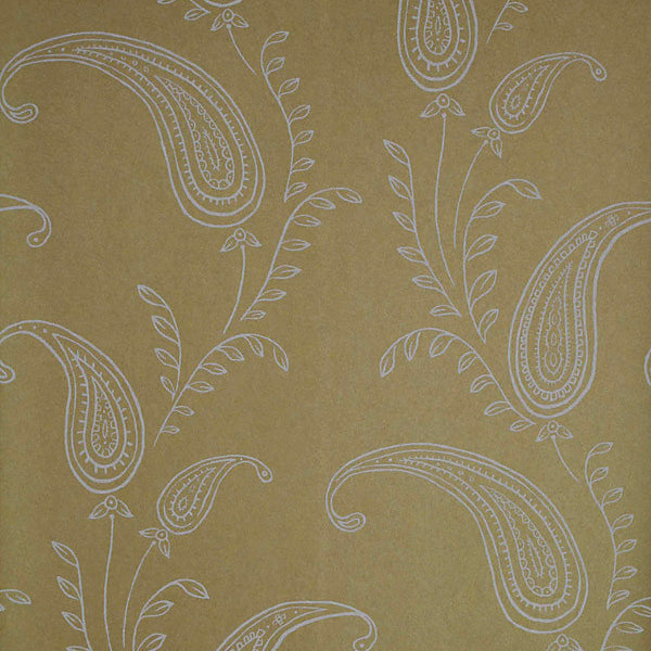Majidah Gold Paisley Wallpaper