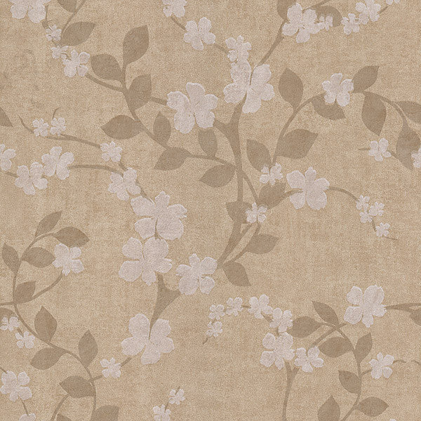 Cheri Gold Blossom Floral Wallpaper