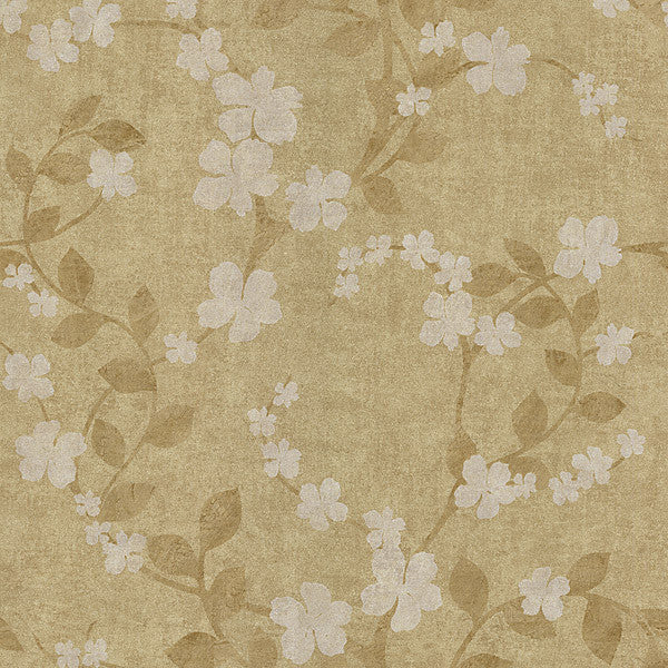 Cheri Taupe Blossom Floral Wallpaper