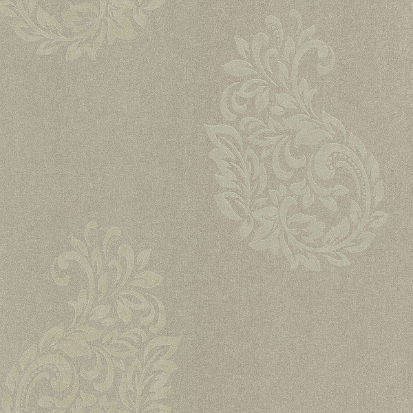 Baja Grey Paisley Spot Wallpaper