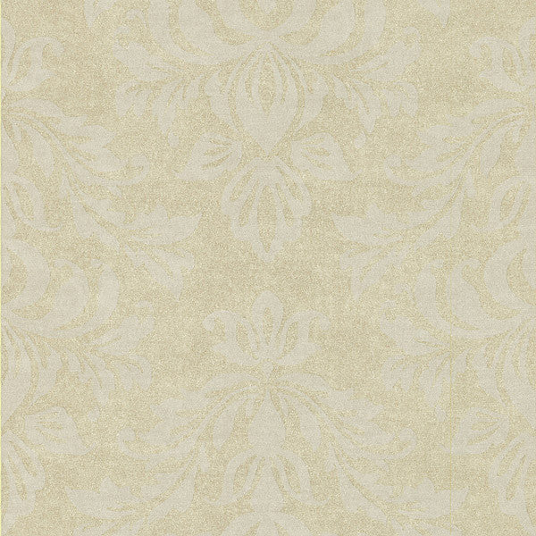 Royale Gold Large Damask Wallpaper