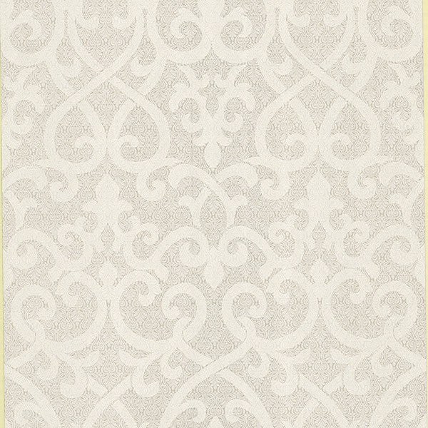 Giselle Champagne Ironwork Damask Wallpaper