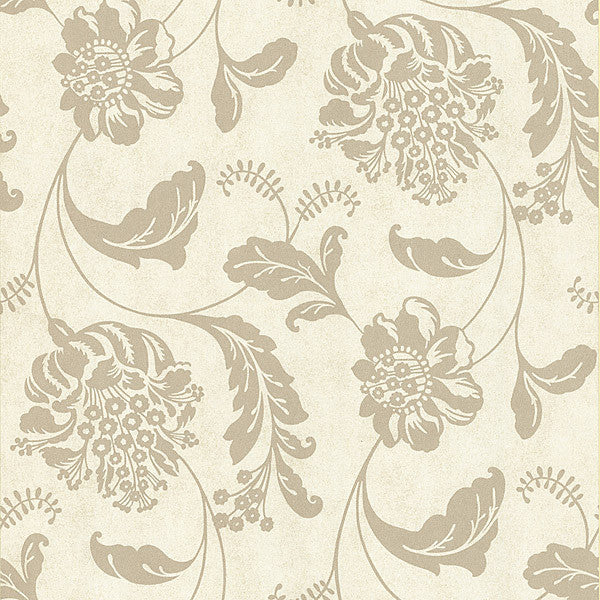 Aaliyah Beige Affabre Jacobean Wallpaper