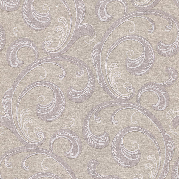 Nijah Mauve Scroll Wallpaper