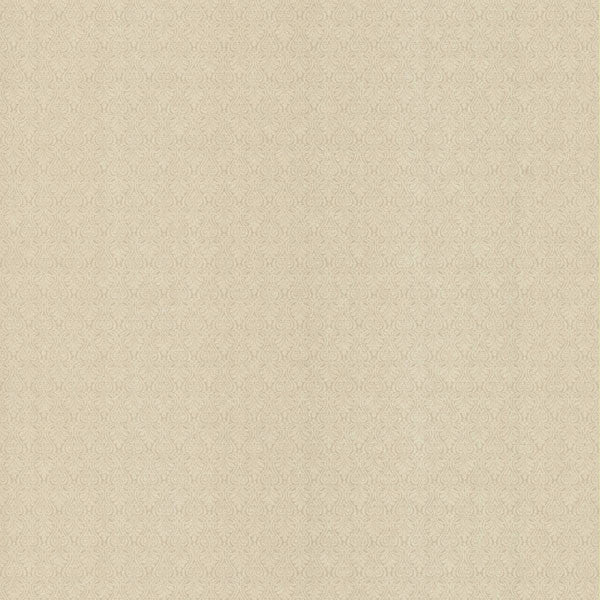 Brabant Light Brown Small Damask Texture Wallpaper