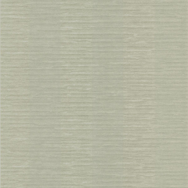 Karmen Light Green Crepe Stripe Wallpaper