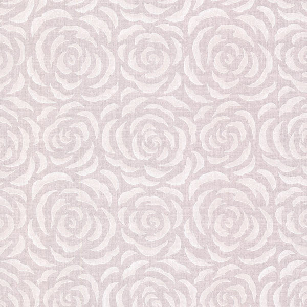 Rosette Lavender Rose Pattern Wallpaper