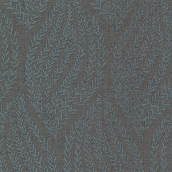 Calix Charcoal Sienna Leaf Wallpaper