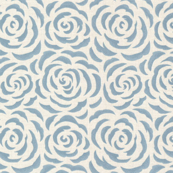 Rosette Aqua Rose Pattern Wallpaper
