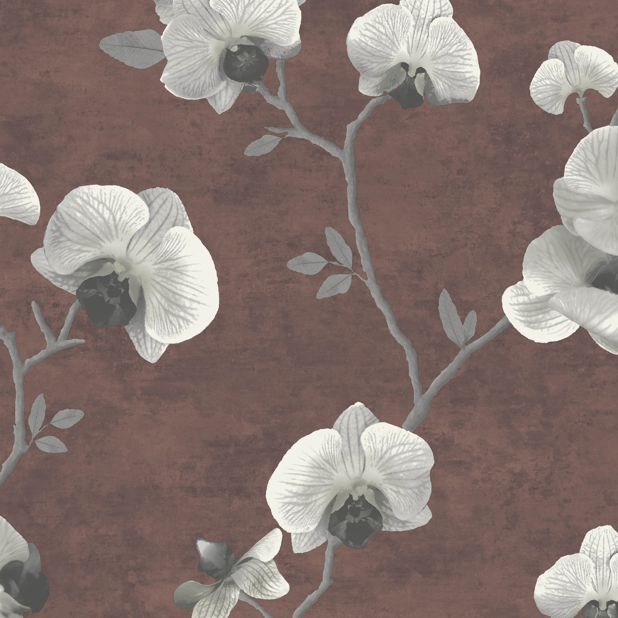 Large Beaded Orchid In Taupe And Russet, 8175 49