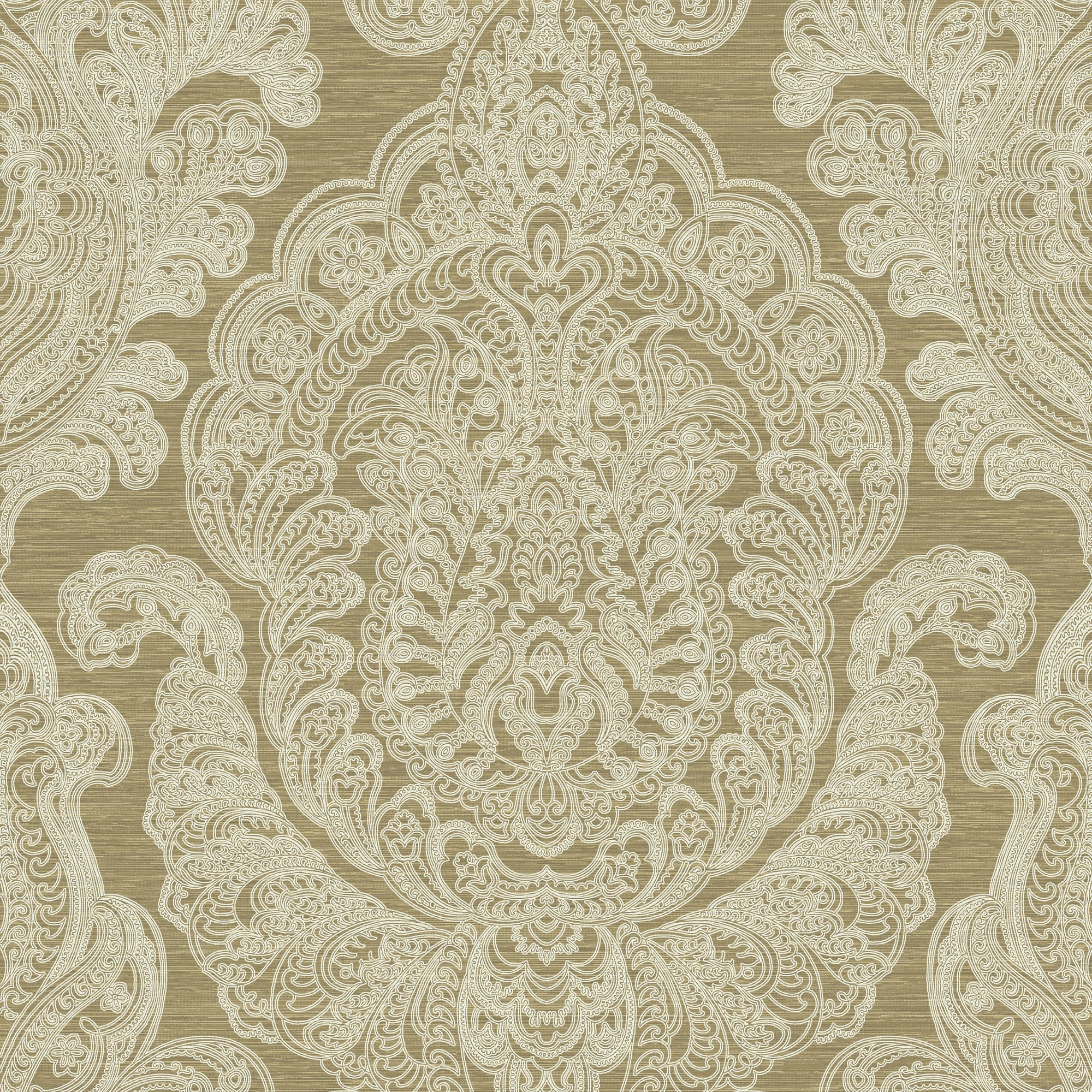 Damask In White And Gold, 8192 19