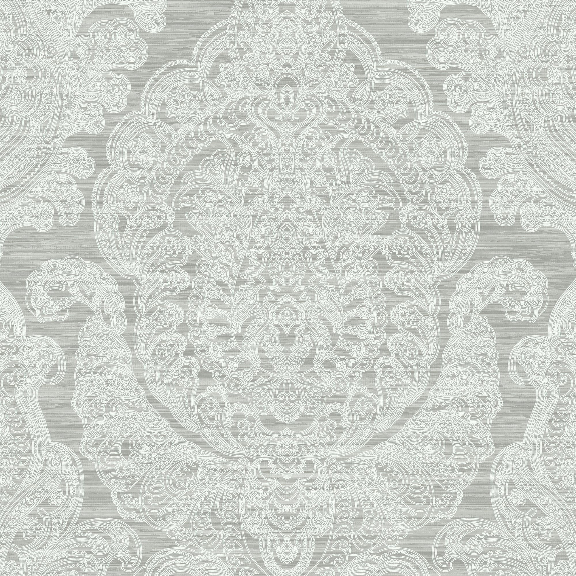 Damask In Silver And Grey, 8192 92