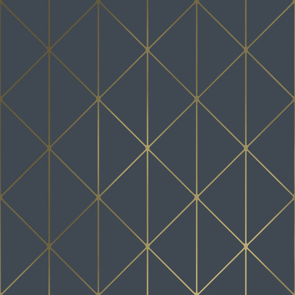 Diamonds Navy Geometric Wallpaper