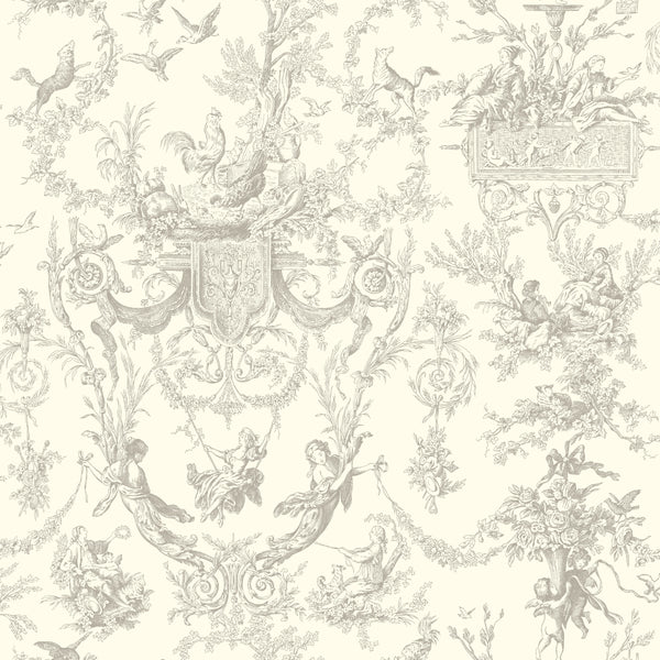 Ashford Toiles Old World Toile Wallpaper