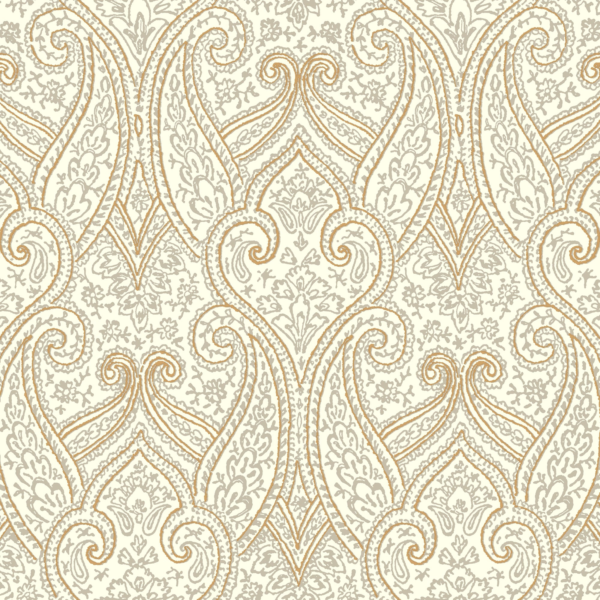 Kashmir Luxury Paisley Wallpaper