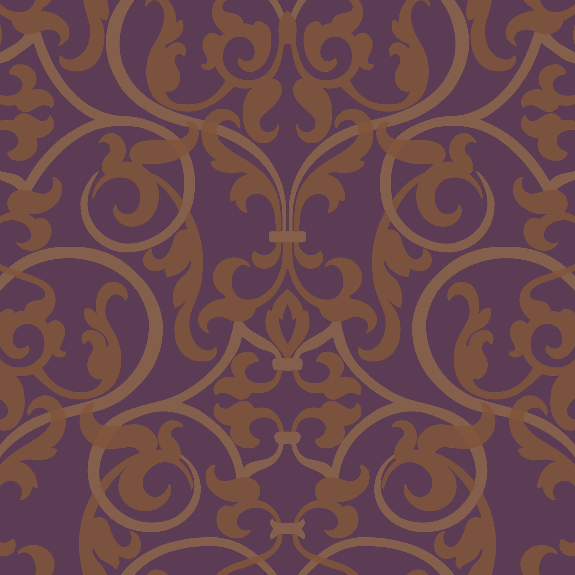 Kashmir Royal Scroll Wallpaper