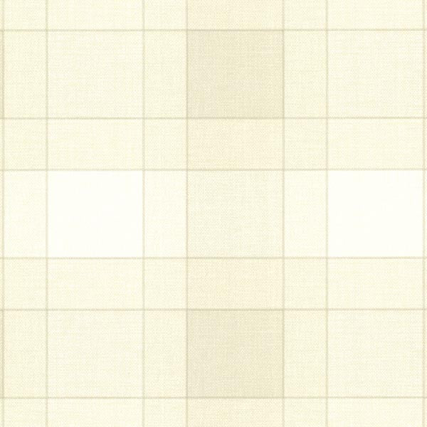 Kieran Cream Wool Plaid Wallpaper