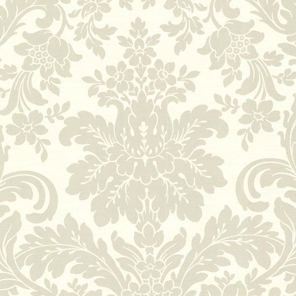 Birgitta Cream Damask Wallpaper