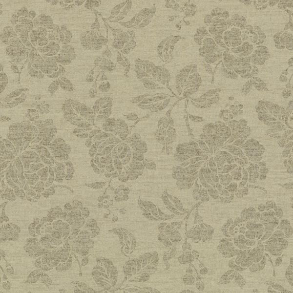 Sloane Wheat Rose Trail Wallpaper