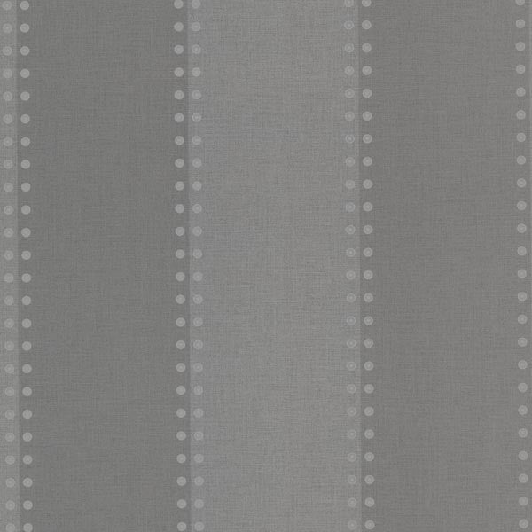 Cullen Charcoal Nailhead Stripe Wallpaper