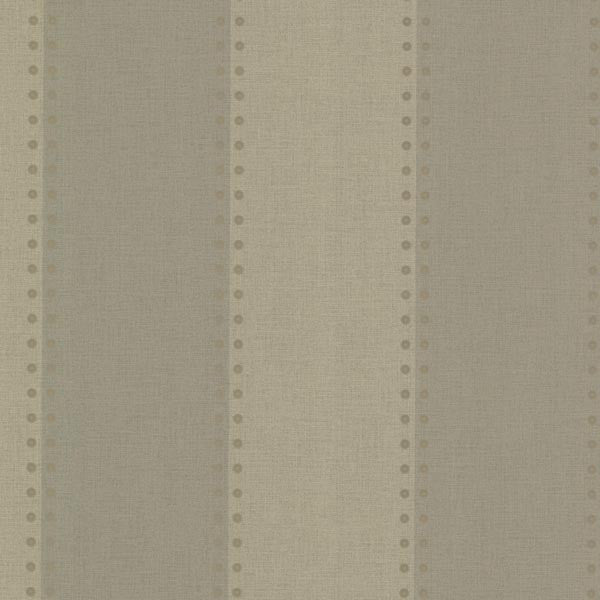 Cullen Sage Nailhead Stripe Wallpaper