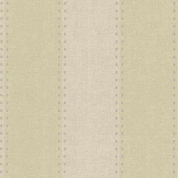 Cullen Sand Nailhead Stripe Wallpaper