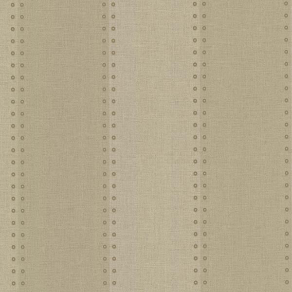 Cullen Beige Nailhead Stripe Wallpaper