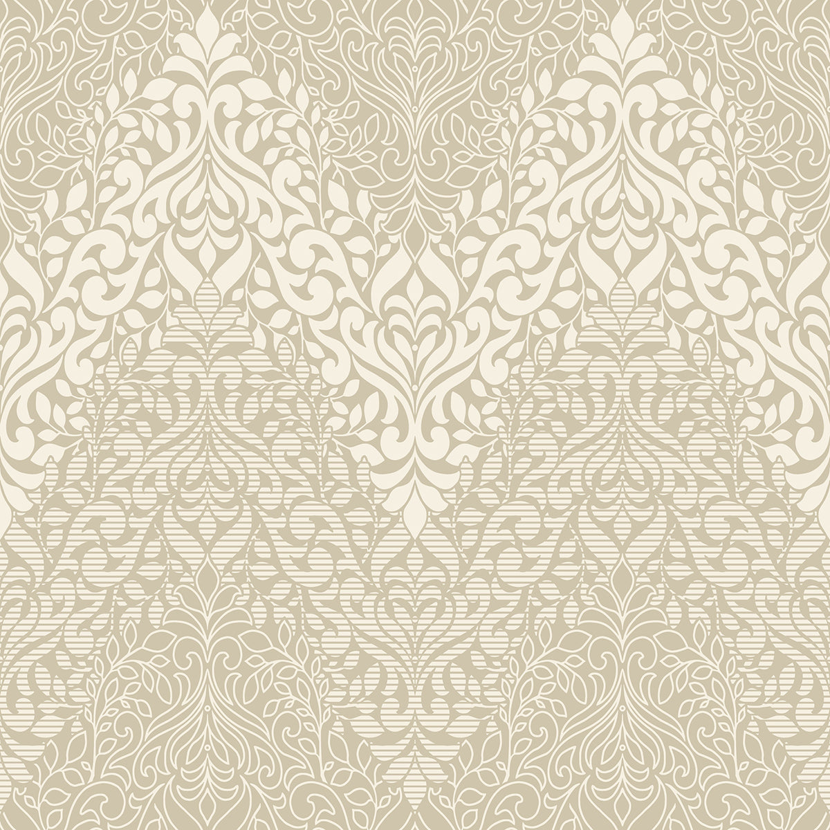 Candice Olson Decadence Folklore Wallpaper in Creme/beige