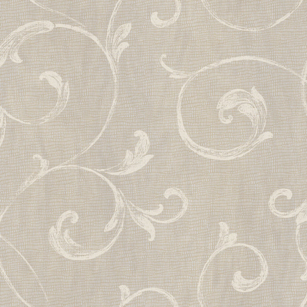 Gibby Charcoal Leafy Scroll Wallpaper Wallpaper