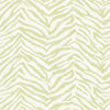 Mia Green Faux Zebra Stripes Wallpaper Wallpaper