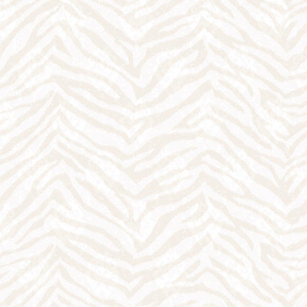 Mia Bone Faux Zebra Stripes Wallpaper Wallpaper