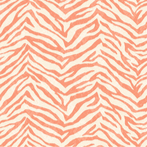 Mia Orange Faux Zebra Stripes Wallpaper Wallpaper