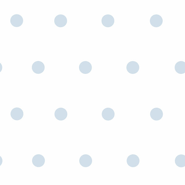 Kenley Light Blue Polka Dots Wallpaper Wallpaper