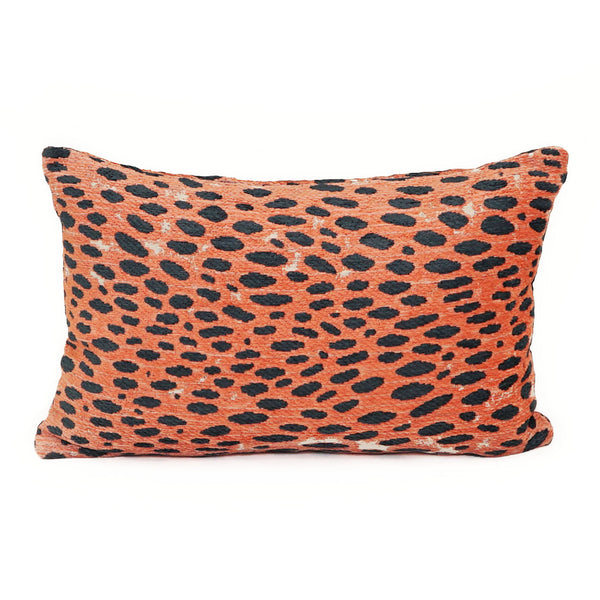 A Leopard Never Changes Its Spots Dark Coral Lumbar - CJ57