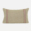 When In Rome Lux Linen In Natural With Tape Trim - Lumbar - CJ69