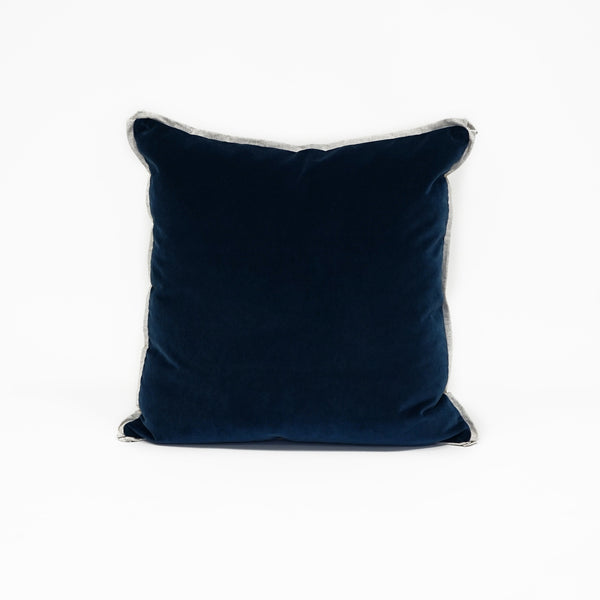 Union Square Velvet Midnight Blue With Linen Flange CL13