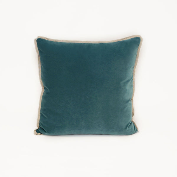 Union Square Velvet Sea Glass With Linen Flange CL21