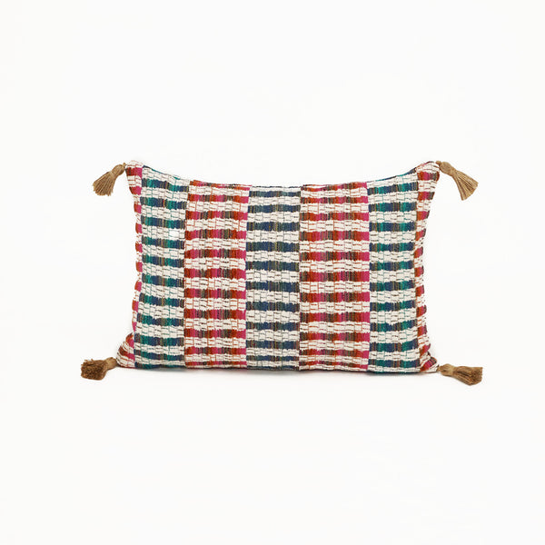 Pasha Multi With Jute Tassels - Lumbar CL26
