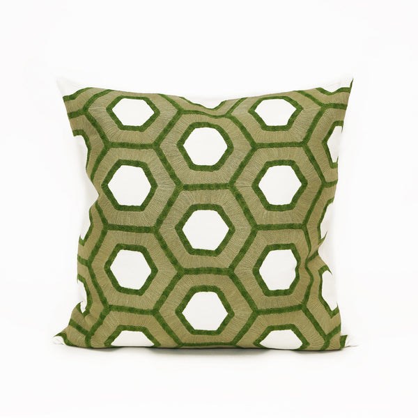 Honeycomb Verde Embroidery CL39