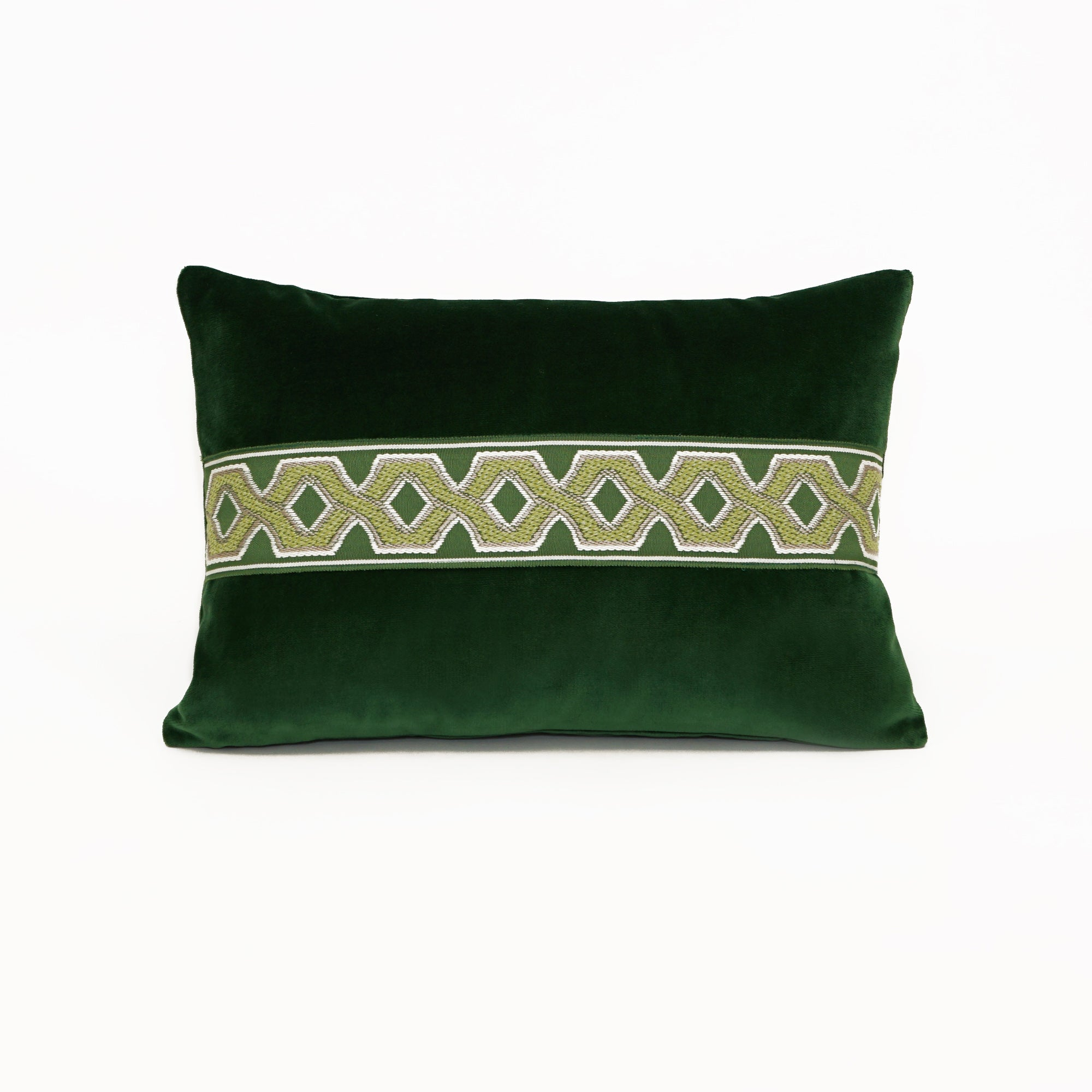 Lounge Kelly Green With Decorative Tape CL40 - Lumbar