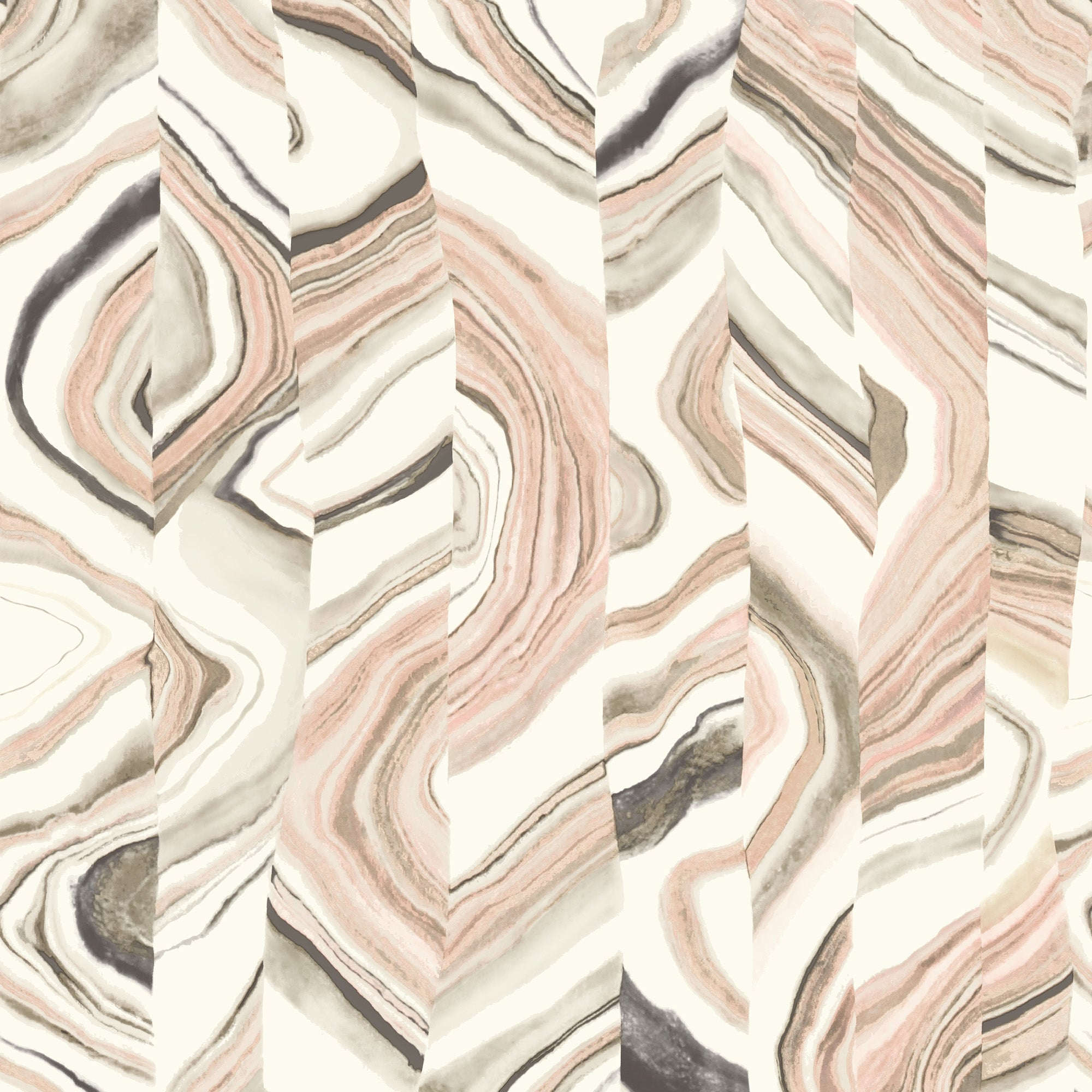 Agate Stripe Wallpaper - Coral