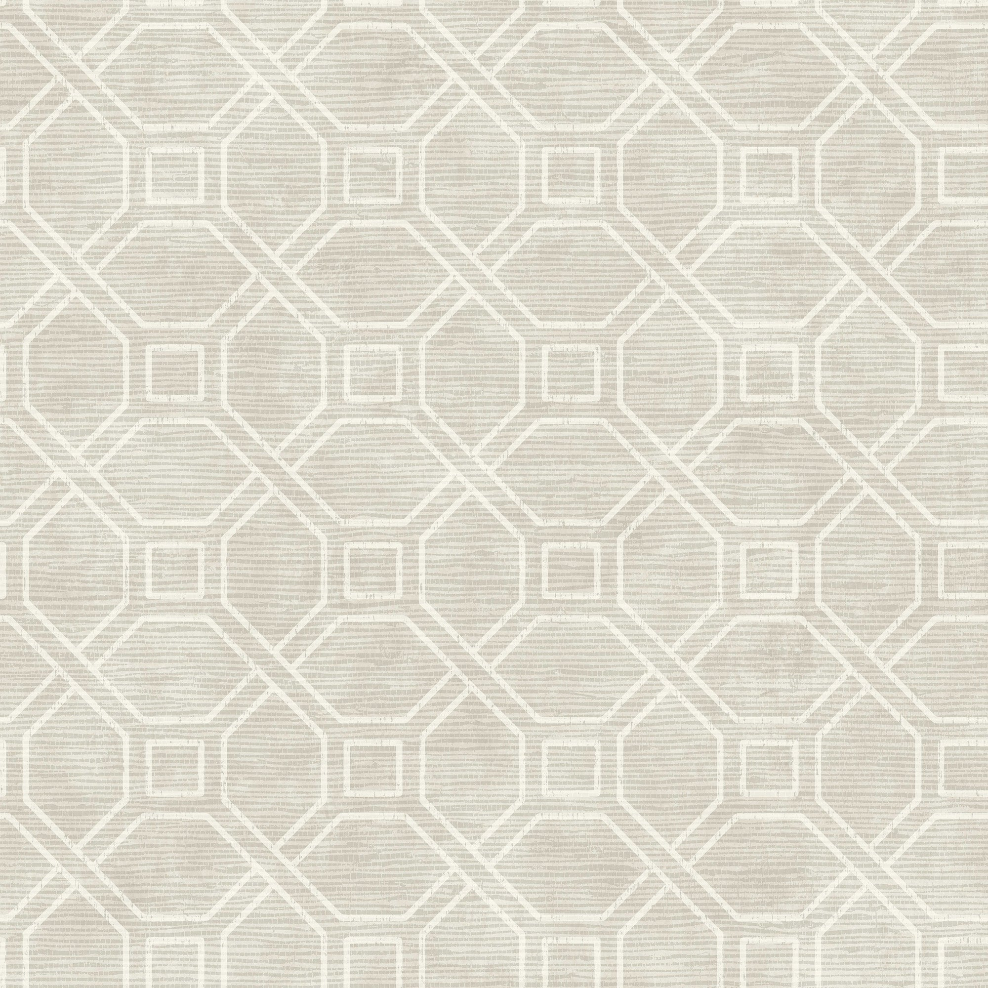 Coastal Trellis Wallpaper - Gray