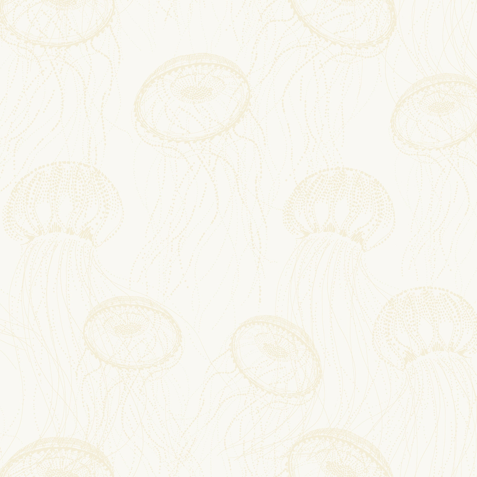 Atolla Wallpaper - White