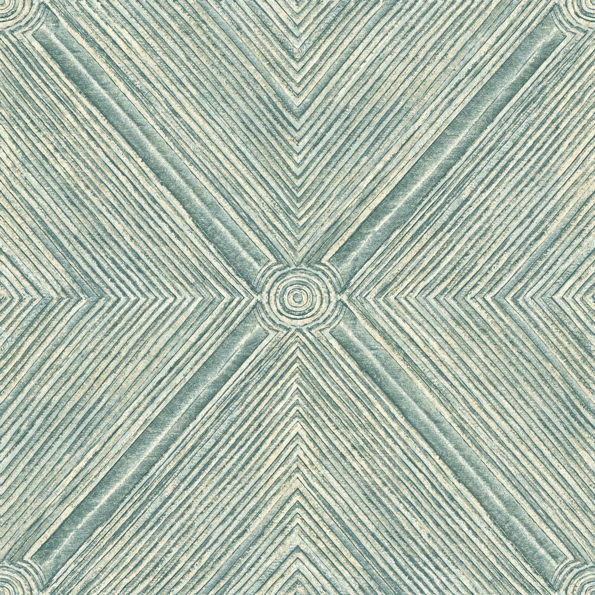 Dimensional Diamond Wallpaper - Teal