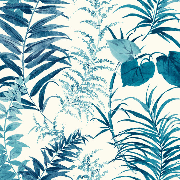 Palms Wallpaper - Blue