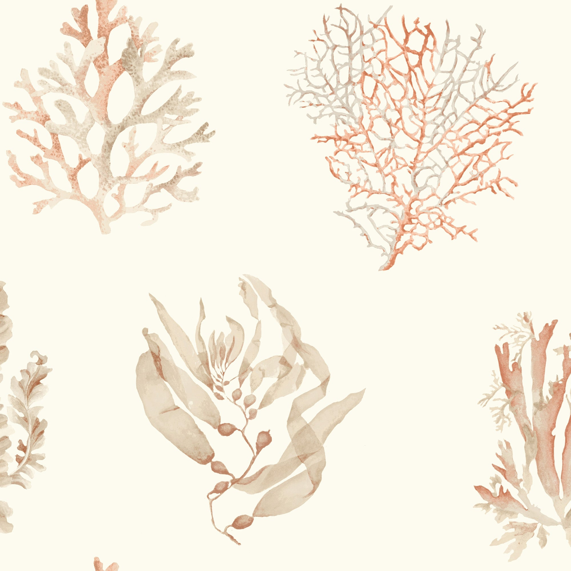 Seaweed Wallpaper - White